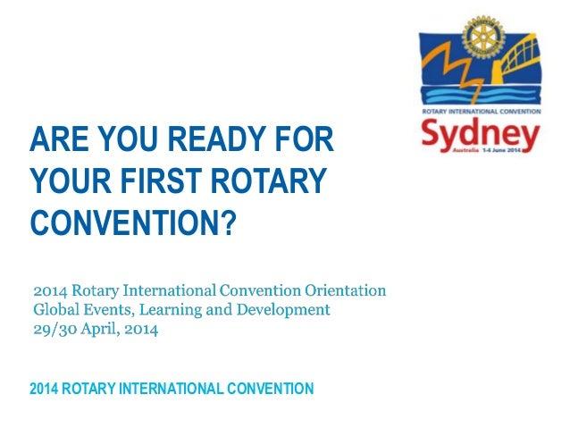 Sydney Convention Orientation