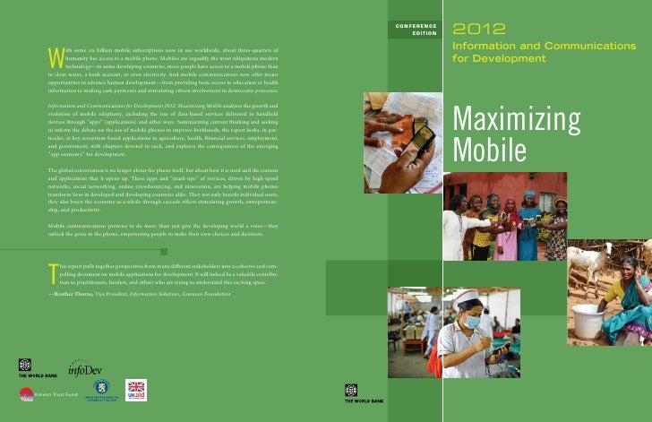 Maximizing Mobile - Tirer le meilleur parti du mobile: le rapport de la banque mondiale