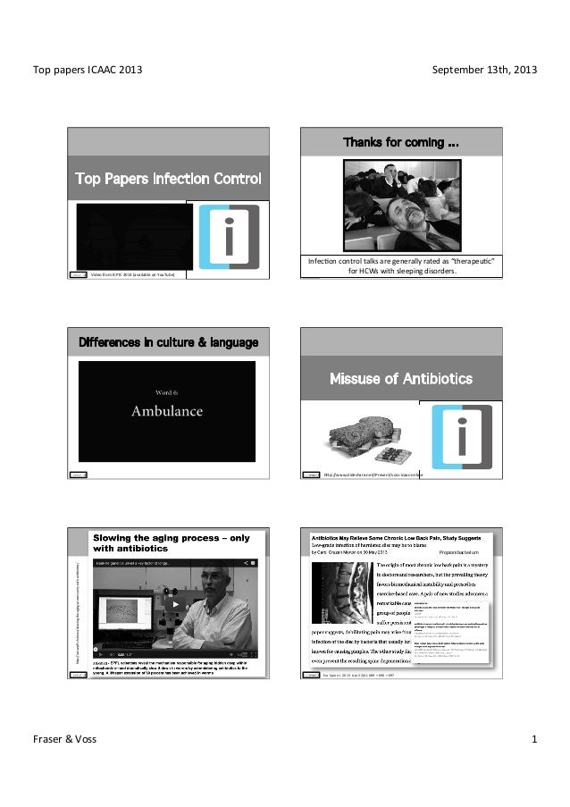 Top  papers  ICAAC  2013   September  13th,  2013   Fraser  &  Voss   1   Video  from  ICPIC  ...