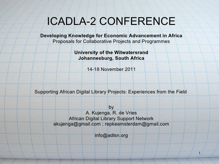 Supporting African Digital Library Projects: Experiences From The Field