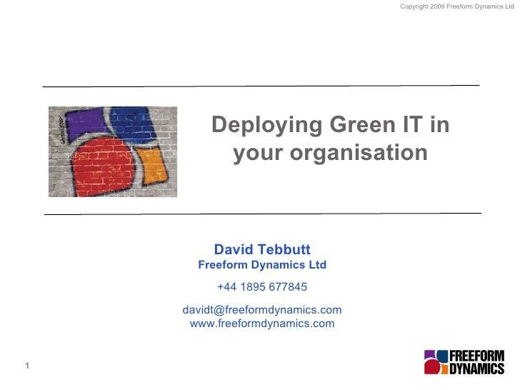 Deploy Green IT