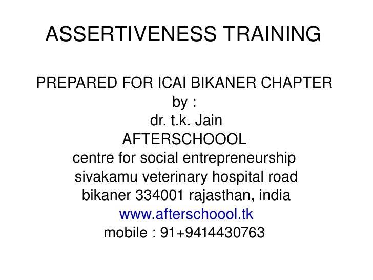 Icai Bikaner Assertive Training