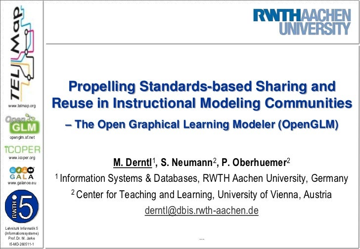 Propelling Standards-based Sharing and Reuse in Instructional Modeling Communities – The Open Graphical Learning Modeler (OpenGLM)