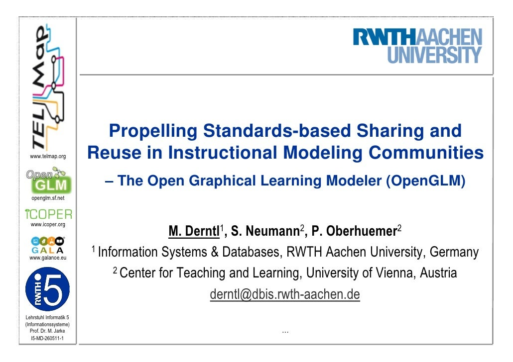 Propelling Standards-based Sharing and  www.telmap.org         Reuse in Instructional Modeling Communities                ...
