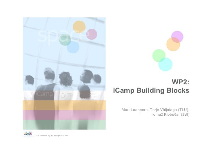 WP2:                                     iCamp Building Blocks                                        Mart Laanpere, Terje...