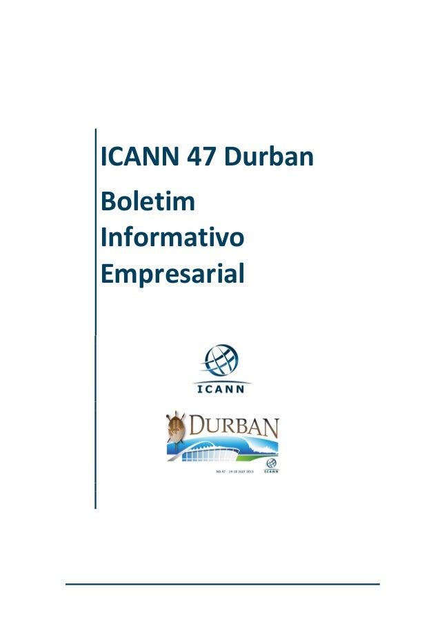 ICANN 47 Durban Boletim Informativo Empresarial