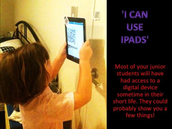 I can use iPads