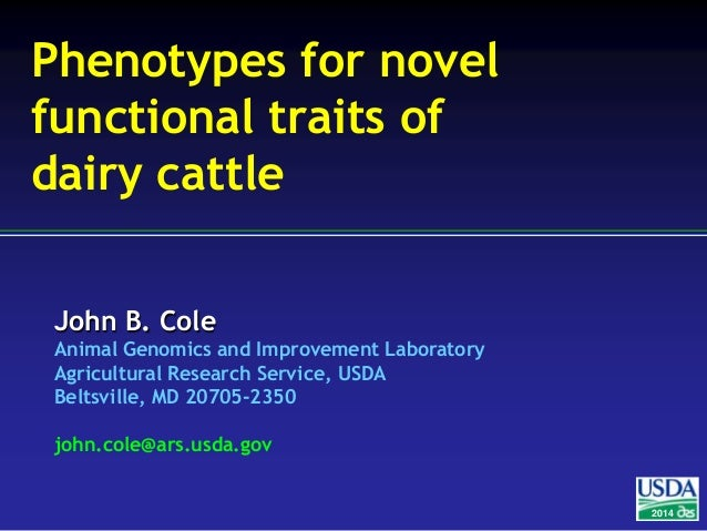 Phenotypes for novel functional traits of dairy cattle