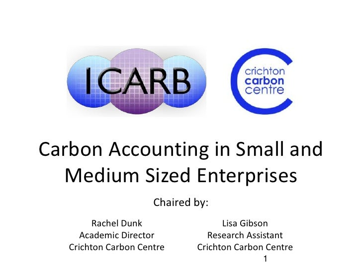 Carbon Accounting in Small and Medium Sized Enterprises | Rachel Dunk & Lisa Gibson