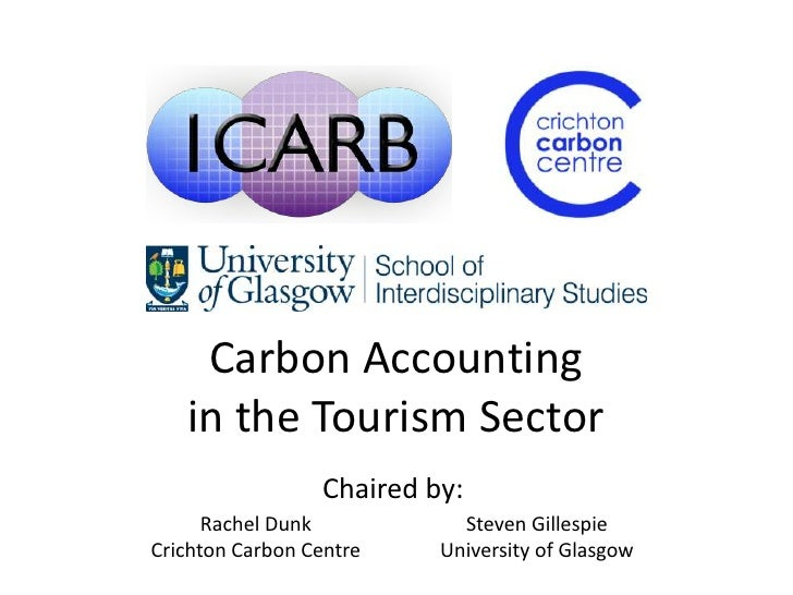 Carbon Accounting   in the Tourism Sector                 Chaired by:      Rachel Dunk           Steven GillespieCrichton ...