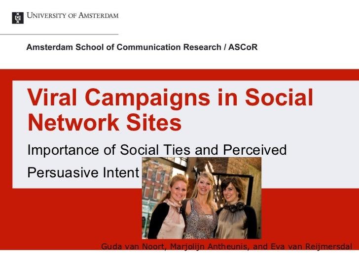 ICA virtual conference Van Noort et al 2011