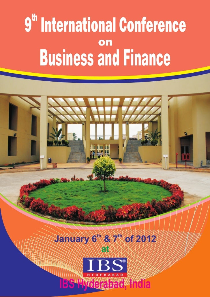 th9 International Conference                 on      Business and Finance                 th   th        January 6 & 7 of ...