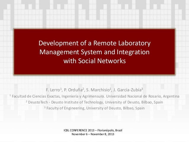 Development of a Remote Laboratory Management System and Integration with  Social Networks