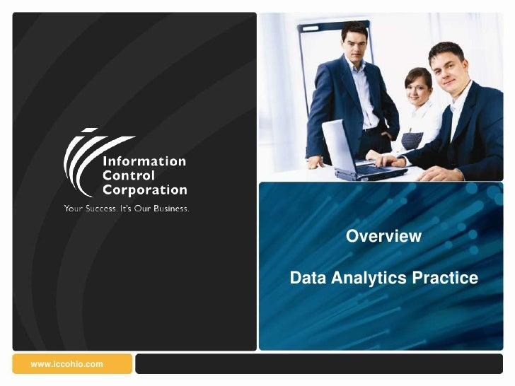 Overview                  Data Analytics Practicewww.iccohio.com
