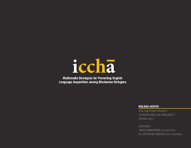 iccha  Multimedia Strategies for Promoting EnglishLanguage Acquisition among Bhutanese Refugees                           ...