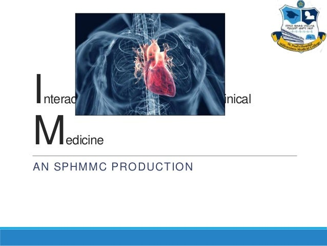 Interactive Cases in Clinical Medicine (SPHMMC production) Episode 01
