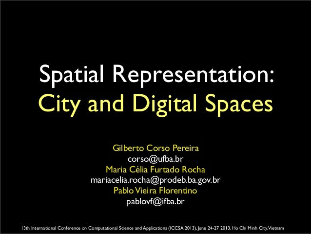 City and digital spaces