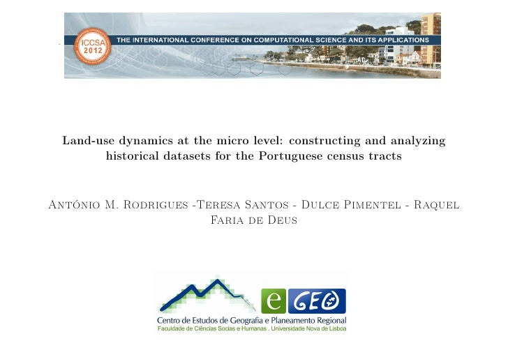 .     Land-use dynamics at the micro level: constructing and analyzing           historical datasets for the Portuguese ce...