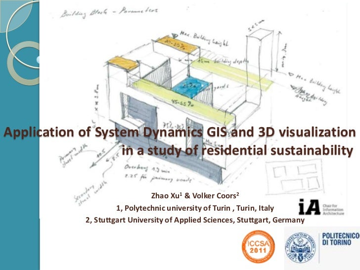 Application of integrated System Dynamics, GIS and 3D visualization system in a study of residential sustainability