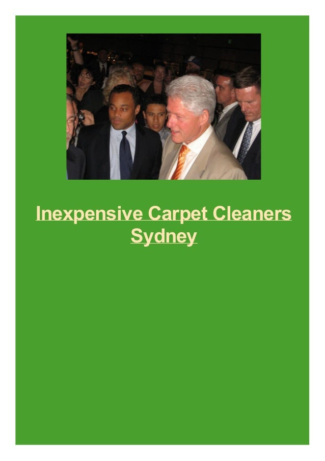Inexpensive Carpet Cleaners Sydney