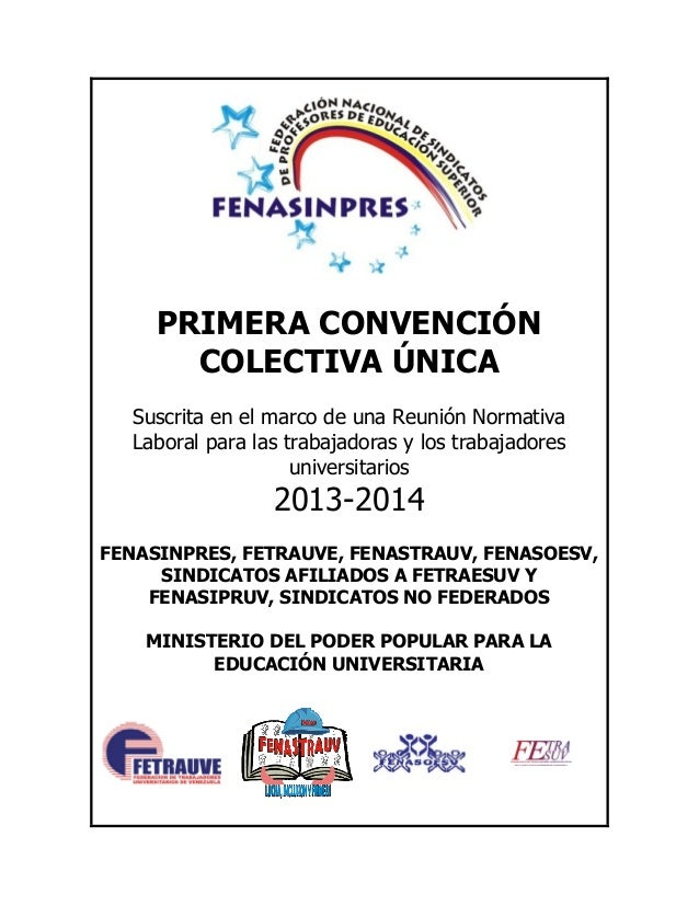 CONVENCIÓN COLECTIVA ÚNICA 01/07/13