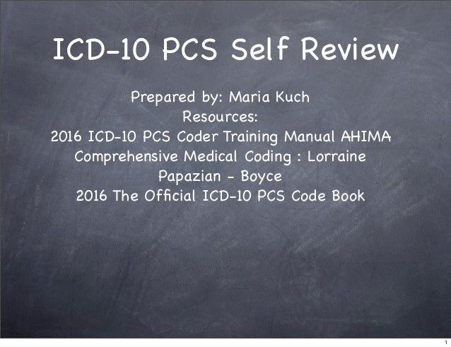 icd 10 training manual pdf