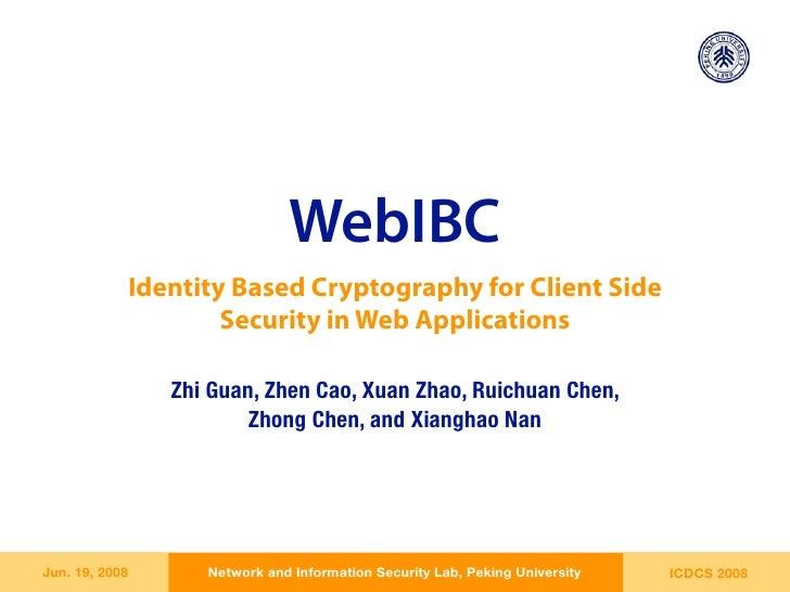 ICDCS'08 WebIBC