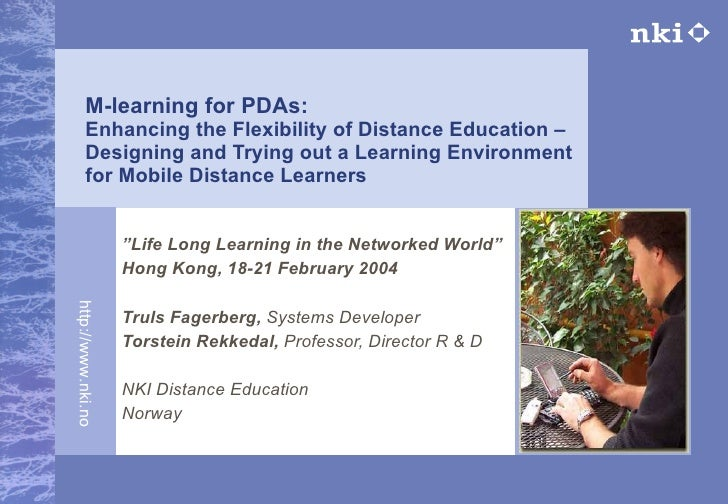 Mobile learning for PDAs 2004