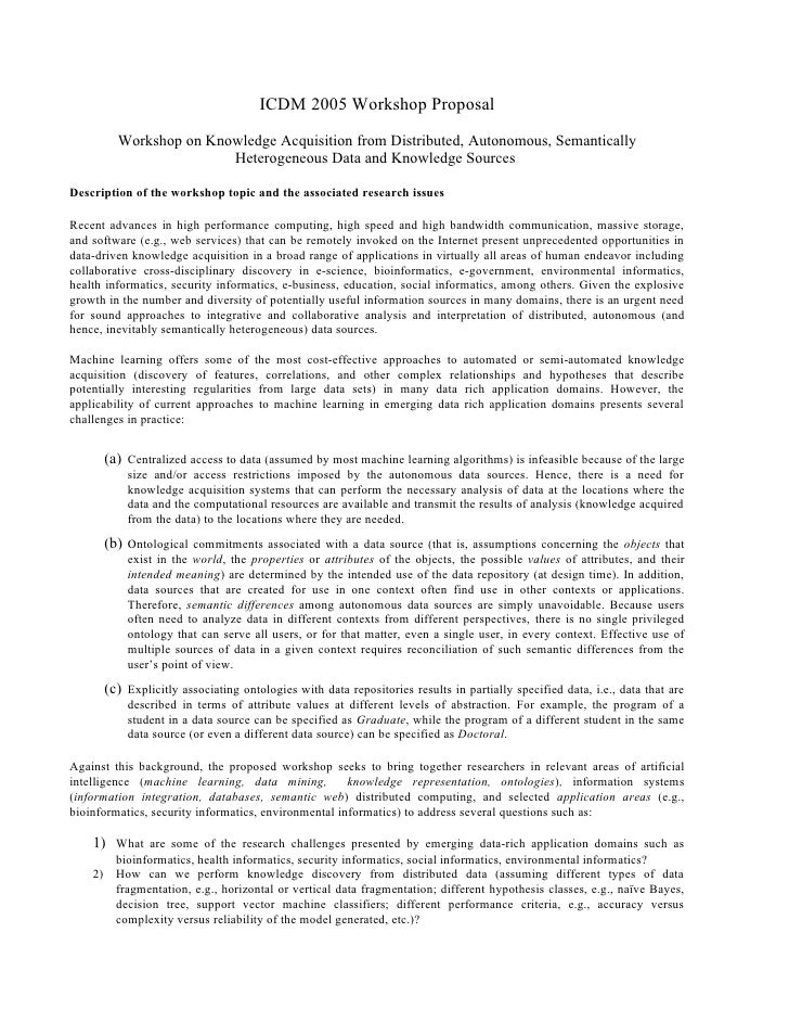 ICDM 2005 Workshop Proposal           Workshop on Knowledge Acquisition from Distributed, Autonomous, Semantically        ...