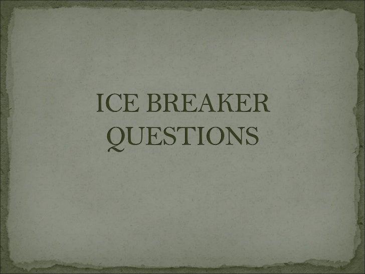 Ice breaker-questions-part-1