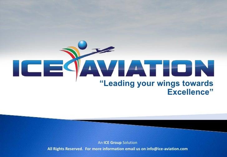 Ice aviation profile -August 2011