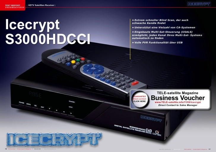 TEST REPORT                          HDTV Satelliten Receiver该独家报道由技术专家所作Icecrypt                                         ...