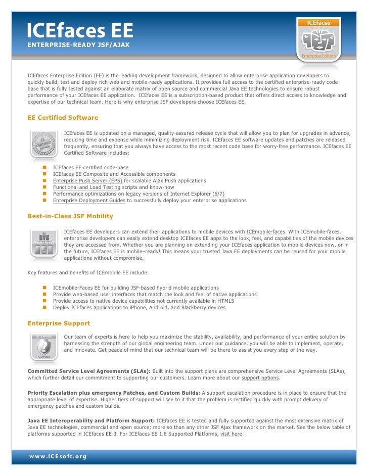 ICEfaces EE - Enterprise-ready JSF Ajax Framework