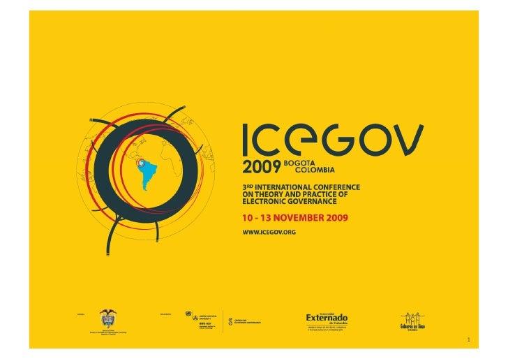 ICEGOV2009 - Opening