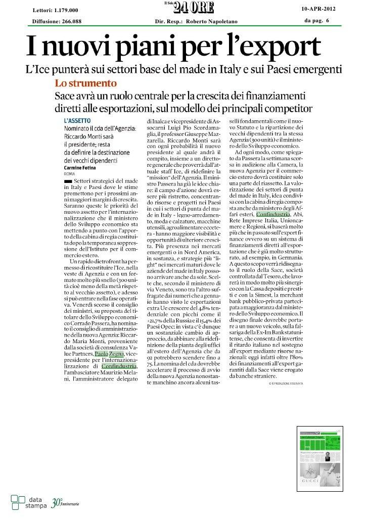 Lettori: 1.179.000                                     10-APR-2012Diffusione: 266.088   Dir. Resp.: Roberto Napoletano   d...