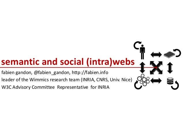 semantic and social (intra)webs