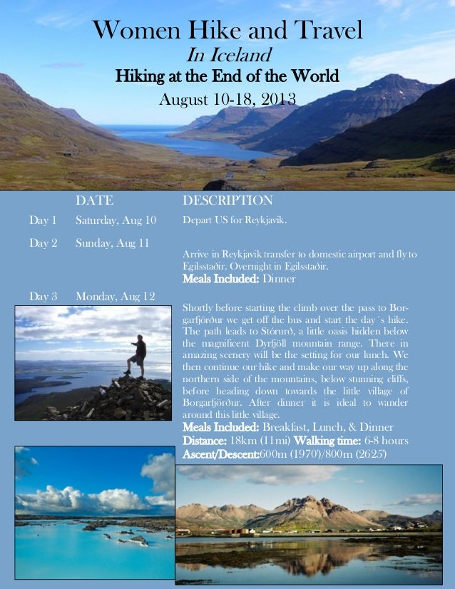 Women Hike and Travel                           In Iceland               Hiking at the End of the World                   ...