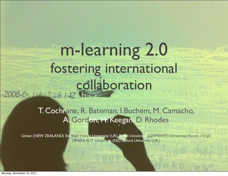 Mlearning 2.0 Enhancing international collaboration - Iceri 2011