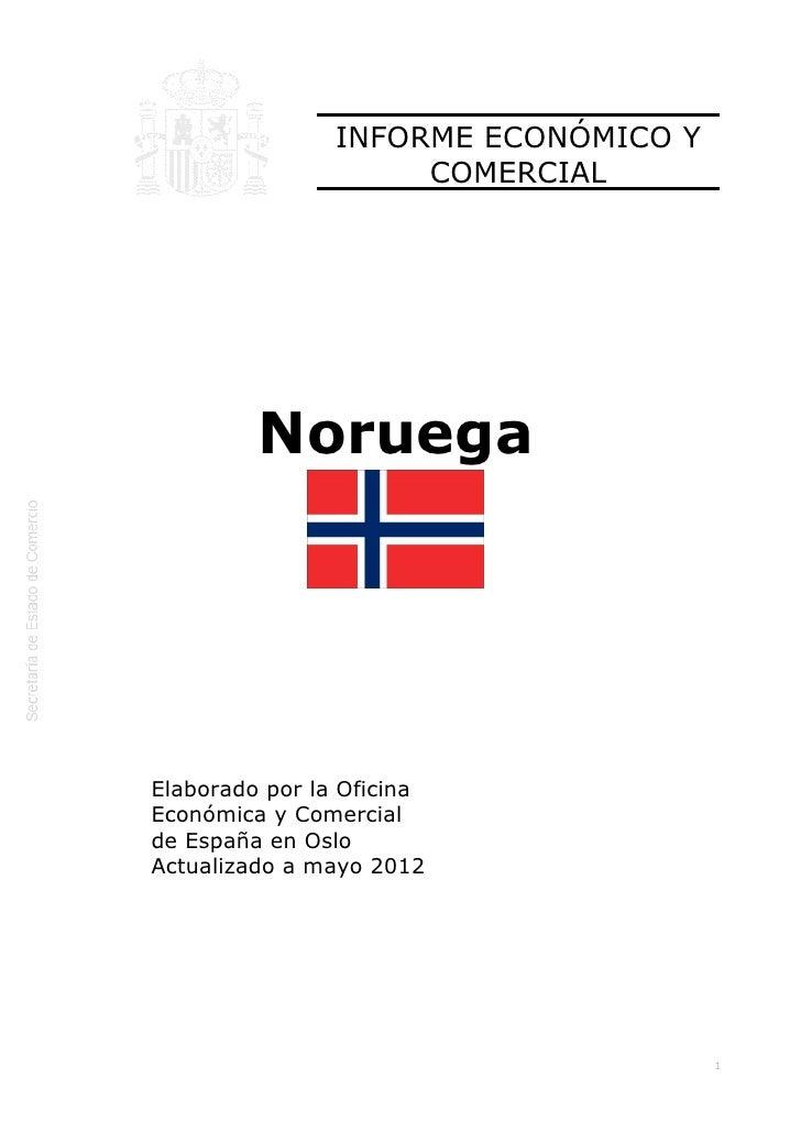 Icex  informe económico y comercial noruega 2012