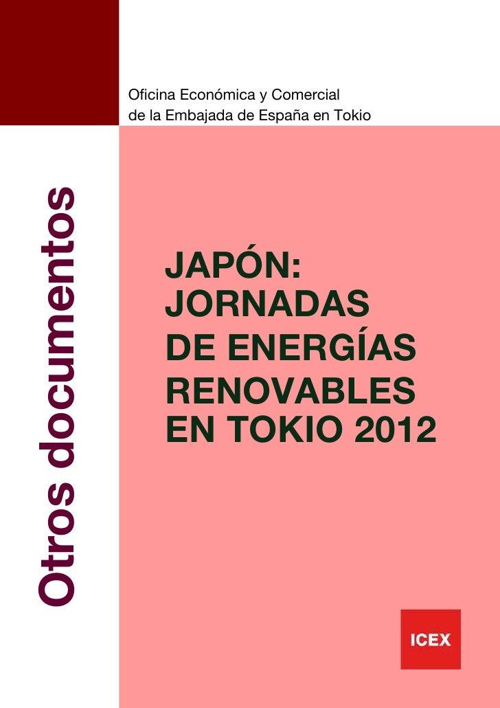 ICEX Japón. jornadas de energías renovables en Tokio 2012