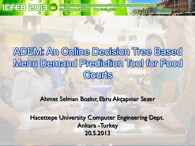 adem an online decision tree based menu demand prediction