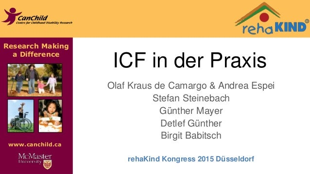 Research Making a Difference www.canchild.ca ICF in der Praxis Olaf Kraus de Camargo & Andrea Espei Stefan Steinebach Günt...