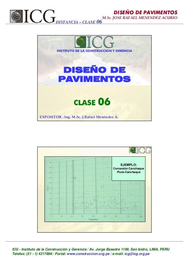 ICG - Instituto de la Construcción y Gerencia / Av. Jorge Basadre 1199, San Isidro, LIMA, PERU Telefax: (51 - 1) 4217896 /...