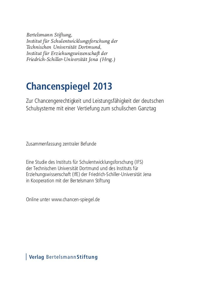 Bertelsmann Stiftung,Institut für Schulentwicklungsforschung derTechnischen Universität Dortmund,Institut für Erziehungswi...