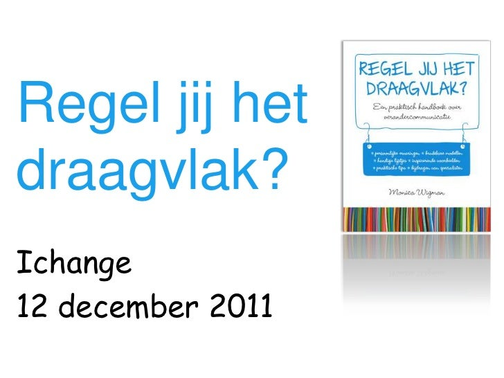 Regel jij hetdraagvlak?Ichange12 december 2011