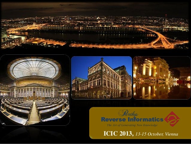 ICIC 2013 New Product Introductions Parthys Reverse Informatics