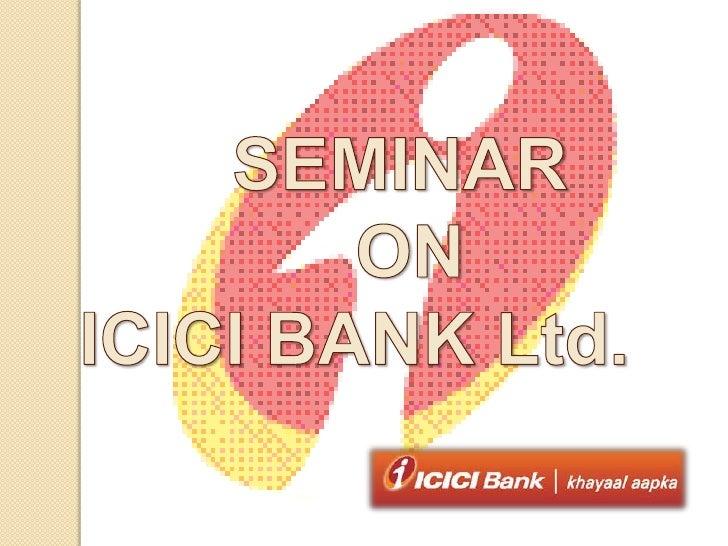 ICICI- A private bank