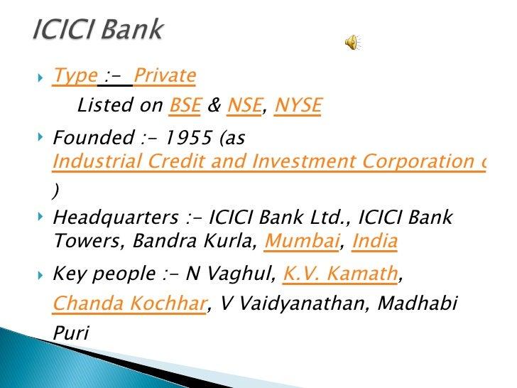 ICICI Bank Presentation