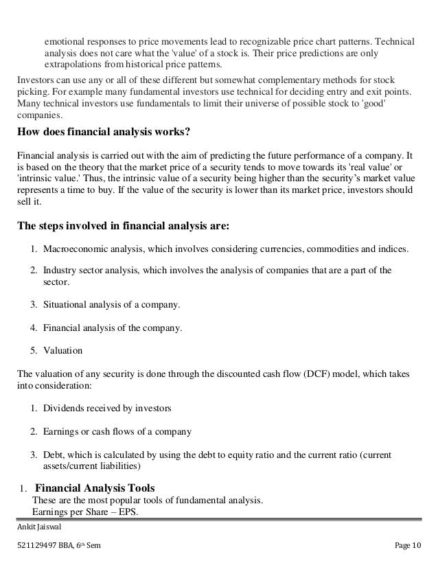 literature review on financial ratio analysis Chapter ii literature review 21 financial ratios analysis financial ratios are important to analysts due to financial ratio has a little value except in relation.
