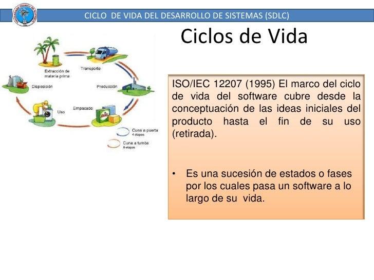 Ciclos de Vida<br />CICLO  DE VIDA DEL DESARROLLO DE SISTEMAS (SDLC)<br />ISO/IEC 12207 (1995) El marco del ciclo de vida ...
